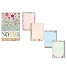 Decorative Flower Notes Flip Notepad by Punch Studio