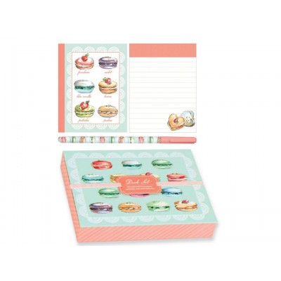 Desk Set - Decorative Macarons