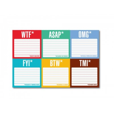 Witty Sticky Notes - What's This For and so on