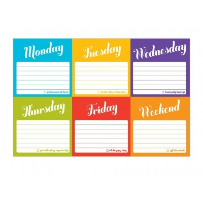 Decorative Sticky Notes - 7 Days of the Week