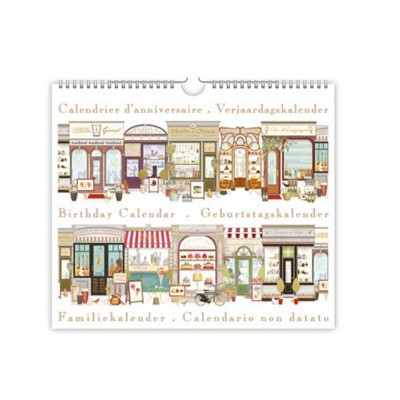 Decorative Shops Birthday and Anniversary Calendar