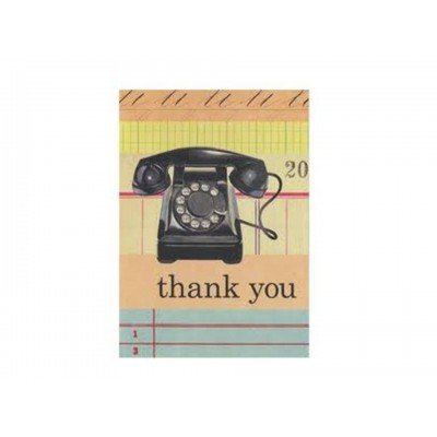 Vintage Office Telephone Thank You Notes